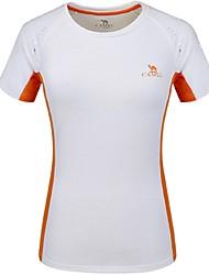 Femme Tee-shirt de Randonnée Séchage rapide Respirable Tee-shirt Hauts/Top pour Camping / Randonnée Escalade Ski de fond Course/Running