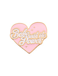 cheap -Women's Girls' Brooches Love Heart Friendship Cute Style Adorable Enamel Alloy Heart Light Pink Jewelry For Wedding Party Special