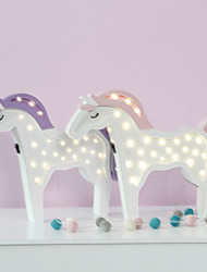 cheap -Nordic Style LED Night Light Table Lamp Wall Lamp Wall Decoration LED Ornament Children Room Decoration  Pretty Pony Cartoon Lamp
