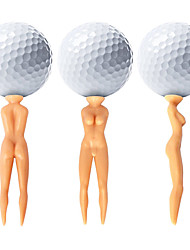 Nuddie Naked Lady Golf Tees Plastic Golf Tee Holder, Nude Woman Golf Tees- 50 pcs