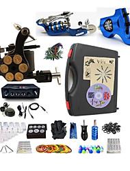 baratos -BaseKey Máquina de tatuagem Kit de tatuagem profissional - 3 pcs máquinas de tatuagem Fonte de Alimentação LED Capa Inclusa 2xMáquina Tatuagem rotativa para linhas e sombras / 1 x máquina de tatuagem