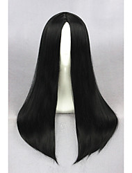 Medium Long Straight Black Synthetic 24inch Anime Cosplay WigsCS-234A