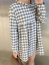 firmare vestito plaid collare coreano bambola