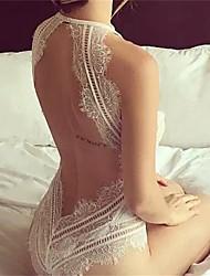 baratos -Mulheres Super Sexy Super Sensual Lingerie com Renda Roupa de Noite - Frente Única, Sólido