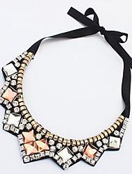 Недорогие -Жен. Геометрической формы форма Акриловый бриллиант Ожерелья-бархатки Синтетический алмаз Акрил Сплав Ожерелья-бархатки Для вечеринок