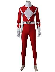 economico -Costumi da supereroi Cosplay Costumi Cosplay Vestito da Serata Elegante Cosplay da film Rosso Calzamaglia/Pigiama intero Guanti Cintura