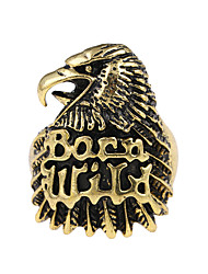 cheap -Logo Band Ring - Eagle, Animal Unique Design, Tattoo Style, Vintage 9 / 10 / 11 / 12 Bronze For Party Special Occasion Halloween