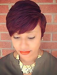 maysu короткие волосы красные пушистые прямые волосы парики волос монолитным человека для совершенных женщин