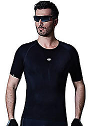 cheap -SANTIC Men's Short Sleeve Cycling Jersey Bike Jersey, Breathable