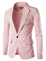 cheap -10 Colors High Quality Hight Quality Men's Casual/Daily Party/Cocktail Vintage Casual Spring Fall SlazerSolid Shirt Collar Long Sleeve Regular Suit