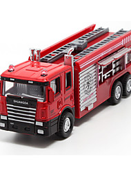cheap -Toy Cars Die-Cast Vehicles Pull Back Vehicles Fire Engine Vehicle Toys Fire Engines Metal Alloy Plastic Metal Pieces Children's Gift