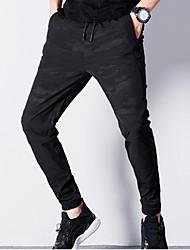 economico -Da uomo A vita medio-alta Attivo Media elasticità Attivo Taglia piccola Chino Pantaloni della tuta Pantaloni,Camouflage Cotone Primavera