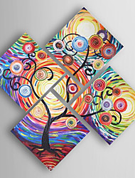 cheap -Oil Painting Hand Painted - Abstract Modern Canvas Five Panels