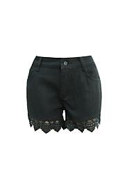 Openwork Häkeln Spitze Shorts Shorts Shorts war dünn in Europa und Amerika Burst Modelle Spitzen Stitching Jeans Shorts