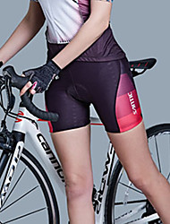 cheap -SANTIC Women's Cycling Padded Shorts Bike Shorts / Padded Shorts / Chamois / Bottoms Lightweight, 3D Pad, Breathable Solid Colored Pink