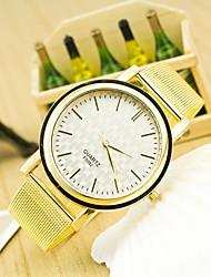 cheap -Women's Fashion Grid Scale Dial Quartz Golden Mesh Belt Watches