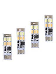 BRELONG Dimming USB 3W 6x5730 Night light Touch Switch Touch  Dual Light Color (DC5V) 4pcs