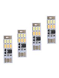 brelong oscuramento usb 3W 6x5730 luce notturna tocco tattile a colori a doppia luce (DC5V) 4 pezzi