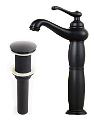 cheap -Antique Modern Country Centerset Pre Rinse Widespread Ceramic Valve Single Handle One Hole Nickel Brushed, Bathroom Sink Faucet