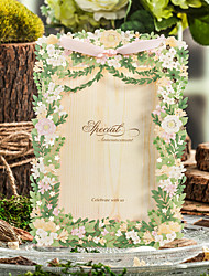 Side Fold Wedding Invitations 50-Save The Date Cards Envelope Envelope Sticker Program Fan Wedding Menu Invitation Cards Thank You Cards