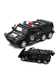 cheap -Toy Cars Model Car Police car Toys Sounds Simulation Car Metal Alloy Plastic Alloy Metal 1 Pieces Children's Kids Boys' Gift