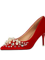 Heels Spring Summer Fall Comfort Leatherette Office & Career Dress Stiletto Heel Imitation Pearl