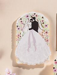 cheap -Side Fold Wedding Invitations 12-Bachelorette Party Cards Invitations Sets Save The Date Cards Envelope Envelope Sticker Program Fan