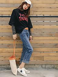 2017 spring models Korea Sign burr Korean loose waist wide leg pants harem nine points autumn