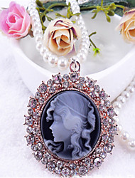 Sweet Lolita Dress Necklace Vintage Inspired Black Lolita Accessories Solid Necklace Polyester Metal