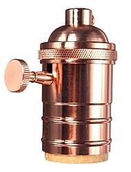 Rose Gold E26/ E27 Industrial Light Socket Metal Shell Vintage Edison Pendant lamp Metal holder With Knob switch