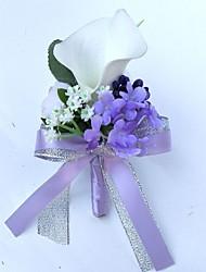 preiswerte -Hochzeitsblumen Knopflochblumen Einzigartiges Hochzeits-Dekor Besondere Anlässe Party / Abend Satin 25 cm ca.
