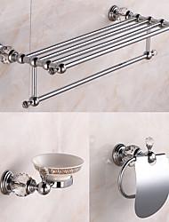 Set d'Accessoires de Salle de Bain / Chrome Cristal /Contemporain