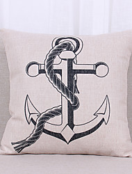 cheap -1 pcs Linen Pillow Cover Pillow Case,Still Life Graphic Prints Textured Nautical Casual Office/Business Outdoor Euro Tropical