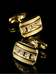 cheap -Geometric Golden Cufflinks Copper Classic Fashion Gift Boxes & Bags Party Business / Ceremony / Wedding Men's Costume Jewelry