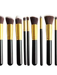 New 10 Black And Gold Face Eye Lip Makeup Brush Sets Shading Brush Brush Highlights Beginners Essential Professional Makeup Brush Bag Mail