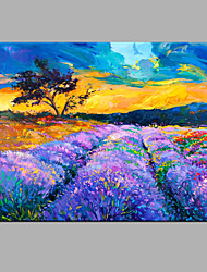 Hand-Painted Abstract Lavender Flowers Oil painting Ready To Hang Modern One Panels Canvas Oil Painting For Home Decoration