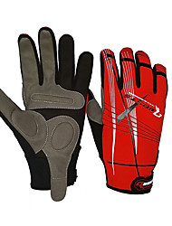 Gloves Bike Windproof Anti-skidding/Non-Skid/Antiskid Unisex Red Black Cotton Nylon