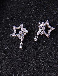 Peckové náušnice Kubický zirkon Jedinečný design Stříbro Star Shape Stříbrná Šperky ProSvatební Párty Zvláštní příležitosti Narozeniny
