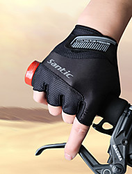 cheap -SANTIC Sports Gloves Bike Gloves / Cycling Gloves Breathable Wearproof Anti-skidding Protective Wicking Shockproof Fingerless Gloves
