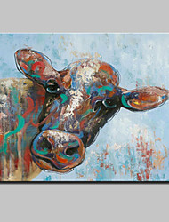 Hand Painted Bull Oil Painting On Canvas Modern Abstract Wall Art Picture For Home Decoration Ready To Hang