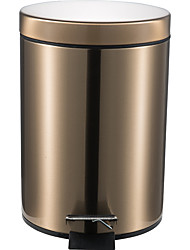cheap -5L Round Stainless Steel Padel Slow Type Muted Trash Can Fingerprint Resistant Ash Can Garbage Can