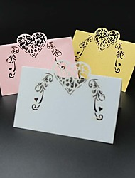 cheap -40pcs Love Lace Heart Laser Cut Party Table Name Place Cards Wedding Cards Table Decoration Mariage Favors And Gifts Party Supplies