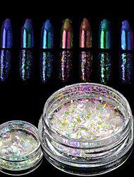 cheap -1 bottle New Nail Art Chameleon Glitter Powder Nail Art Starry-sky&Mirror Effect Nail Art DIY Beauty Sparkling Powder Glitter Decoration BS28-35