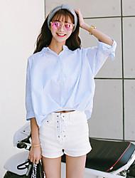 segno 2.016 moda piccola camicia fresca camicia selvaggia ondulata tessuto irregolare