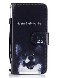 preiswerte -Hülle Für Samsung Galaxy A5(2017) / A3(2017) Geldbeutel / Kreditkartenfächer / mit Halterung Ganzkörper-Gehäuse Hund Hart PU-Leder für A3 (2017) / A5 (2017) / A5(2016)