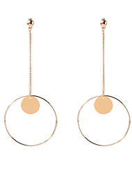 Women's Dangle Earrings Jewelry Circular Dangling Style Pendant Geometric Fashion Personalized Euramerican Copper Geometric Jewelry For