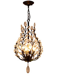 cheap -LightMyself 4Lights Crystal Chandelier Modern/Contemporary Traditional/Classic Rustic/Lodge Vintage Retro Lantern Country Antique Brass Feature
