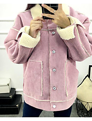 Sign Spot 2016 new Korean Institute of wind tide leisure wild small fragrant wind wool coat lamb short paragraph