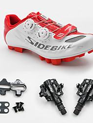 cheap -SIDEBIKE Bike Cycling Shoes With Pedals & Cleats Mountain Bike Shoes Adults' Cushioning Mountain Bike Outdoor Carbon Fiber Cycling / Bike