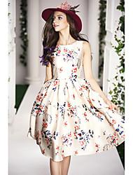 2015 printemps nouvelles femmes haut de gamme européennes et américaines&La robe de s était mince tutu imprimé